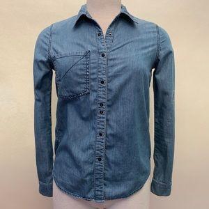 Quiksilver Roxy denim button up down shirt